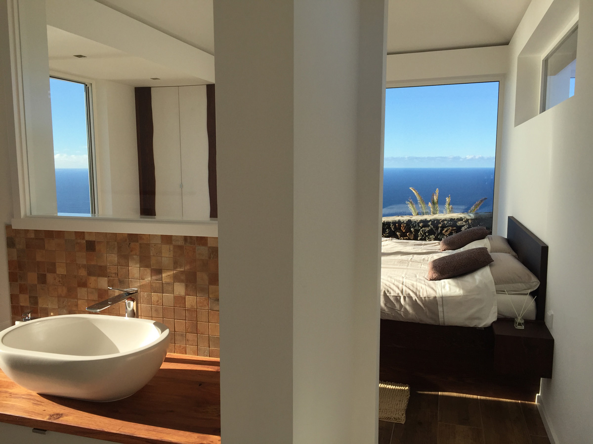Bad en Suite in der Villa auf La Palma