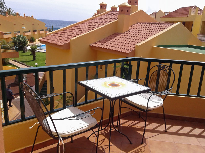 Balkon des Appartments in La Playa im Valle Gran Rey