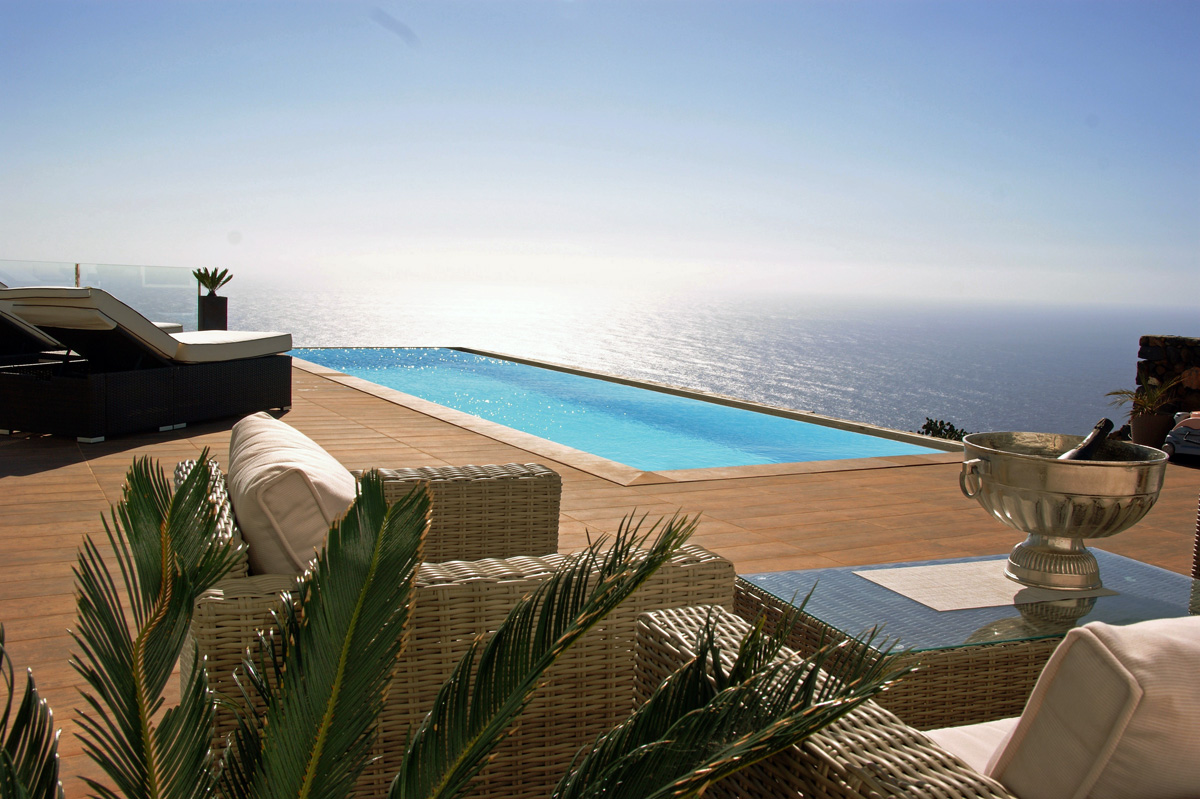 Chill Out am Pool bei Puntagorda auf La Palma